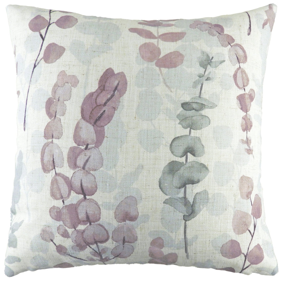 Flourish Eucalyptus Dusky Pink Cushion