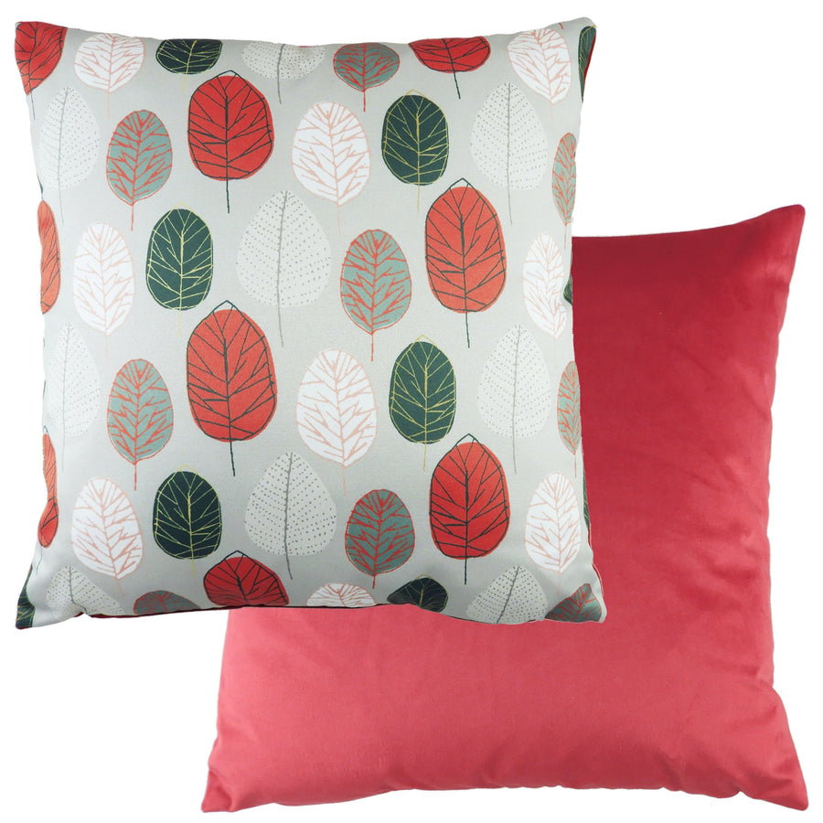 Flourish Leaf Coral Cushion