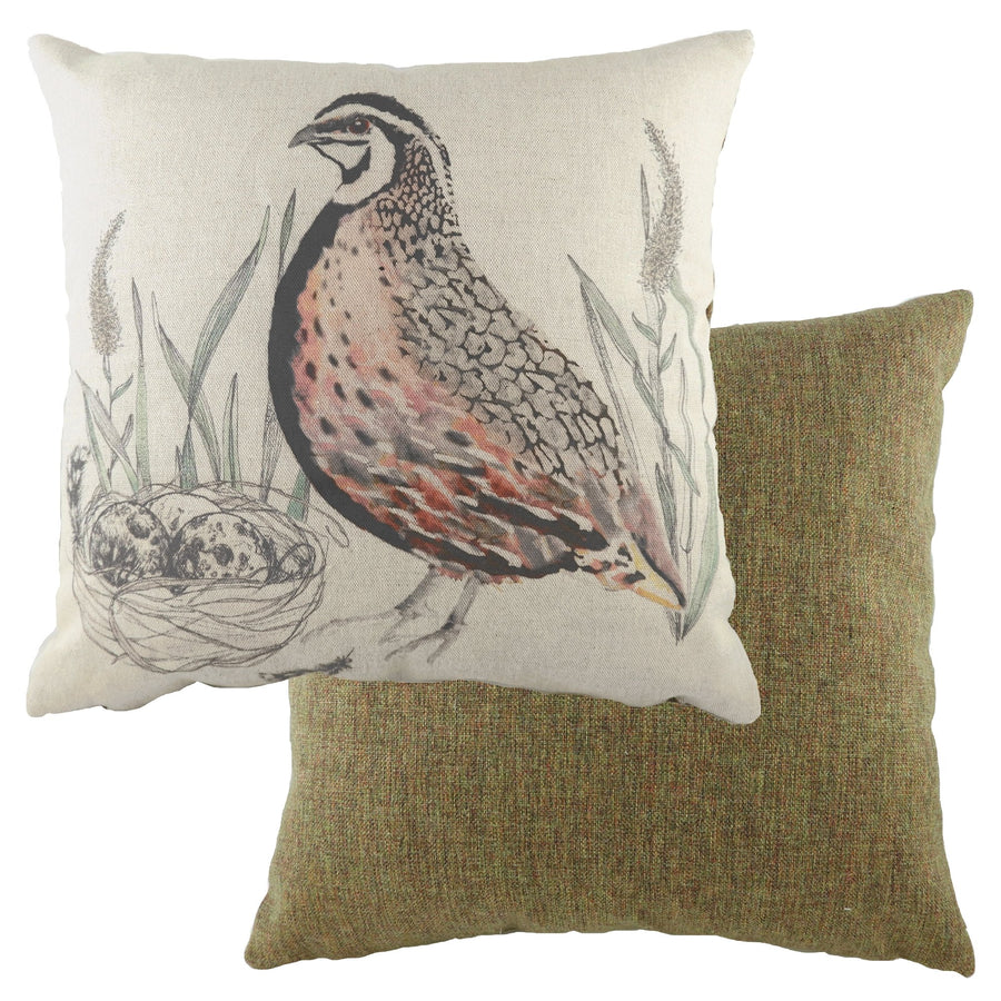 Game Birds Brown Quail Cushion