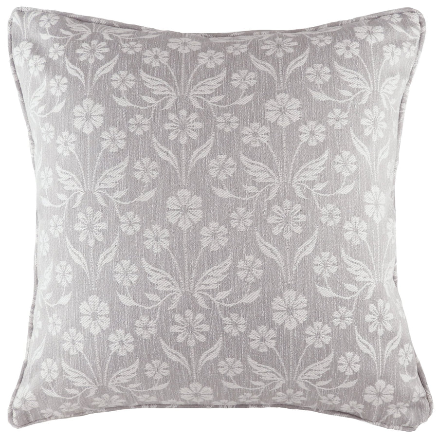 Glendale Floral Grey Piped Cushion