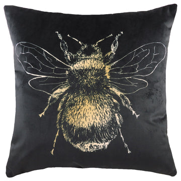 Gold Bee Black Cushion