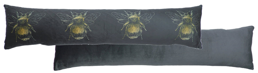 Gold Bee Dark Grey Draught Excluder