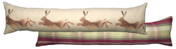 Heather Leaping Hare Draught Excluder