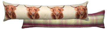 Heather Highland Cow Draught Excluder