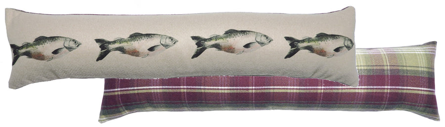 Heather Salmon Draught Excluder