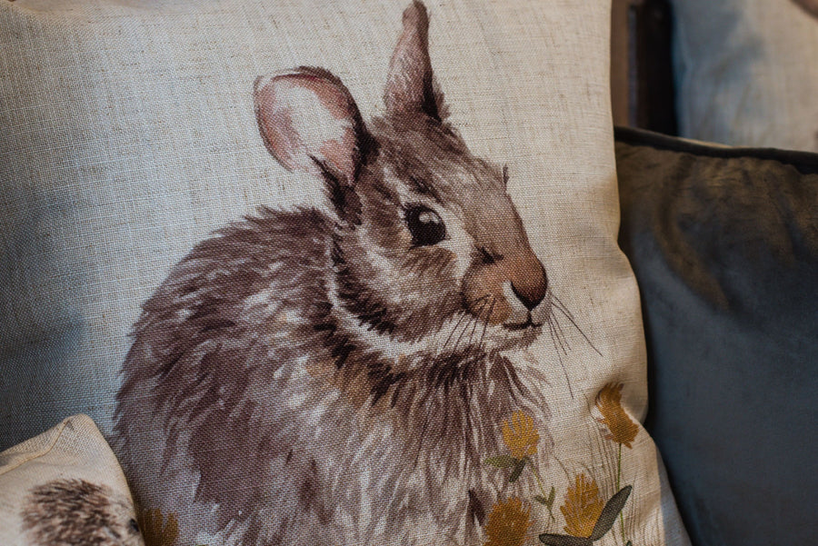 Woodland Hare Cushion