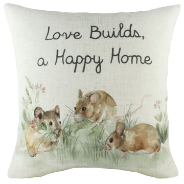 Hedgerow Mice Cushion