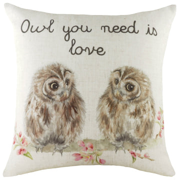 Hedgerow Owls Cushion