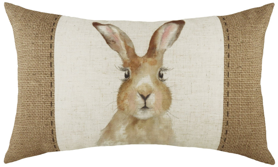 Hessian Hare Oblong Cushion