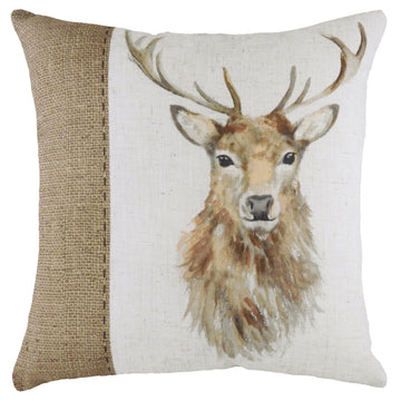 Hessian Stag Cushion