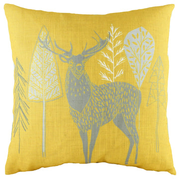 Hulder Stag Ochre Cushion
