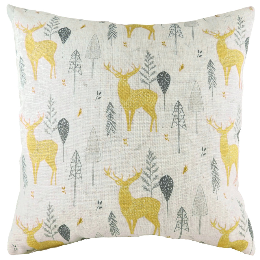 Hulder Stag Natural Repeat Cushion