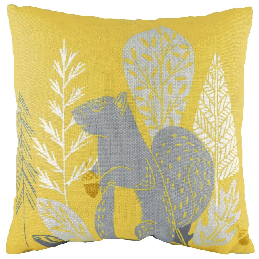 Hulder Squirrel Ochre Cushion
