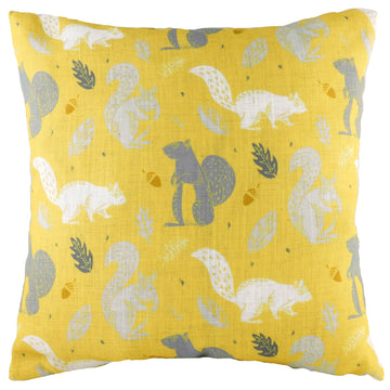 Hulder Squirrel Ochre Repeat Cushion