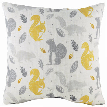 Hulder Squirrel Natural Repeat Cushion