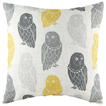 Hulder Owl Natural Repeat Cushion