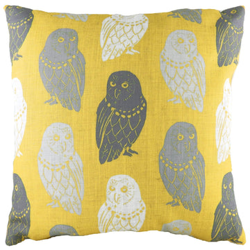 Hulder Owl Ochre Repeat Cushion