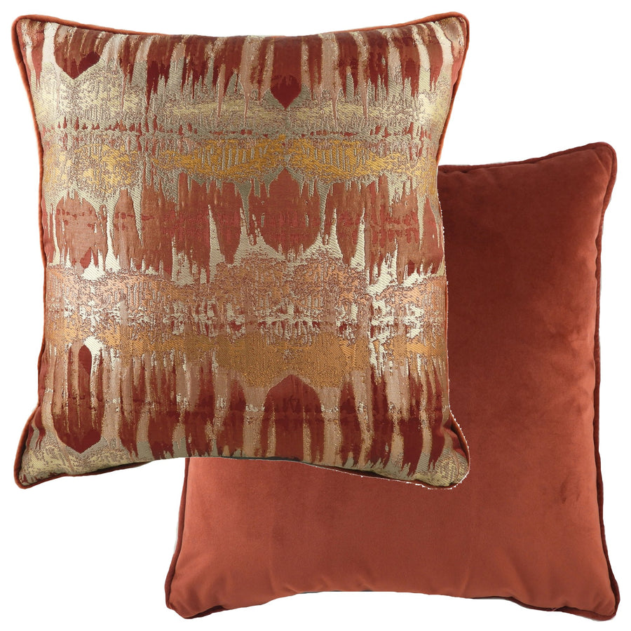 Inca Terracotta Piped Cushion