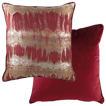 Inca Burgundy Piped Cushion