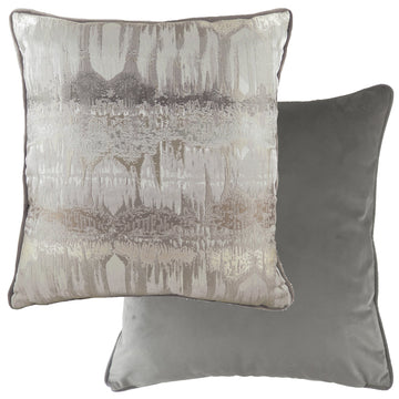 Inca Steel Grey Piped Cushion