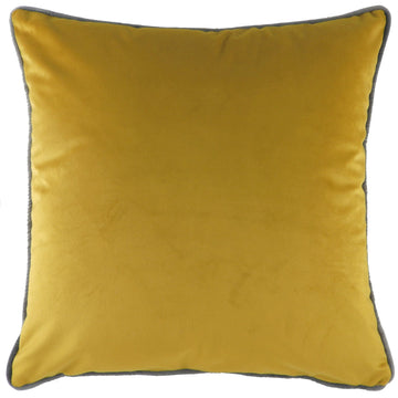 Indulgence Velvet Gold With Steel Piping Cushion