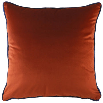 Indulgence Velvet Terracotta With Royal  Piping Cushion
