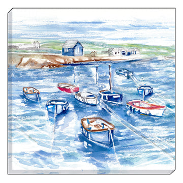Jennifer Rose Gallery Coastline Boathouse Canvas Wall art