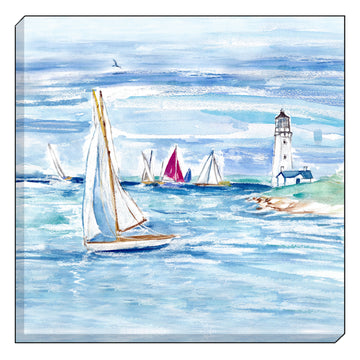 Jennifer Rose Gallery Coastline Lighthouse Canvas Wall art