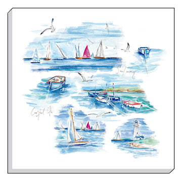 Jennifer Rose Gallery Coastline Sailing Canvas Wall art