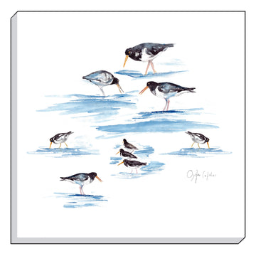 Jennifer Rose Gallery Coastline Oyster Catchers Canvas Wall art