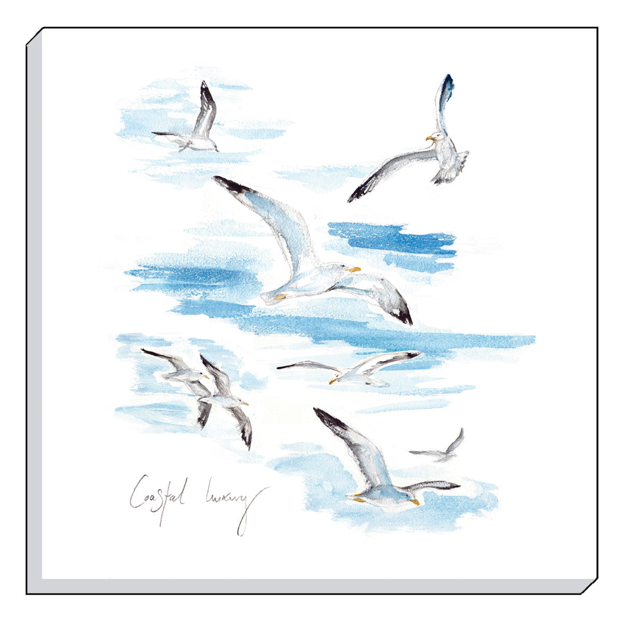 Jennifer Rose Gallery Coastline Seagulls Canvas Wall art