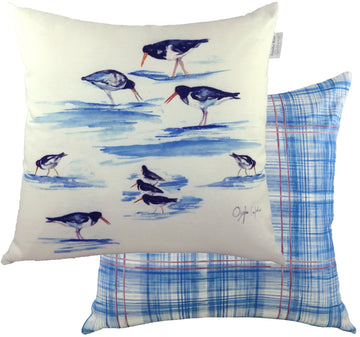 Jennifer Rose Gallery Coastline Oyster Catchers Cushion