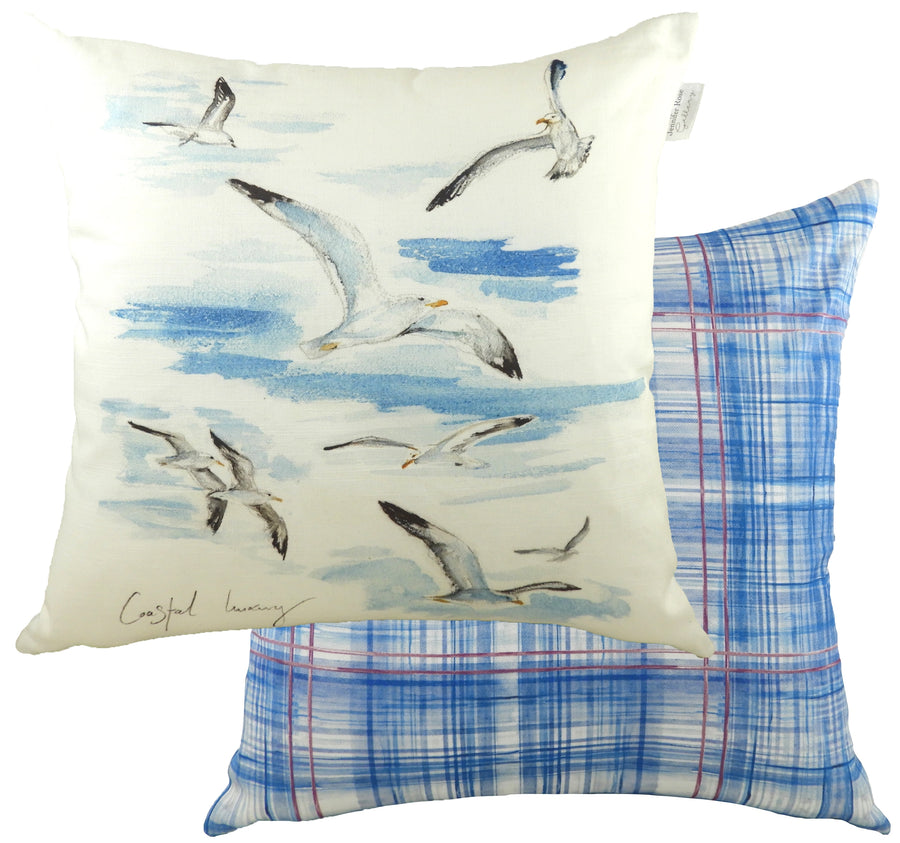 Jennifer Rose Gallery Coastline Seagulls Cushion