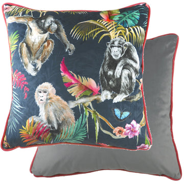 Jungle Monkeys Piped Cushion