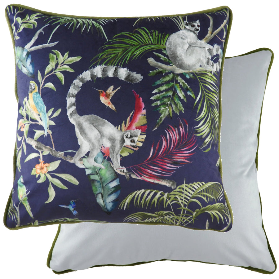 Jungle Lemurs Piped Cushion