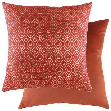 Kenza Cranberry/Velvet Terracotta Cushion