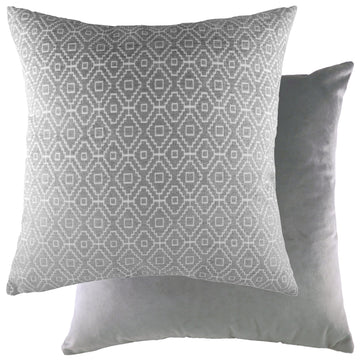 Kenza Smoke/Velvet Steel Cushion