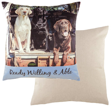 Kitchy Willing & Able Cushion