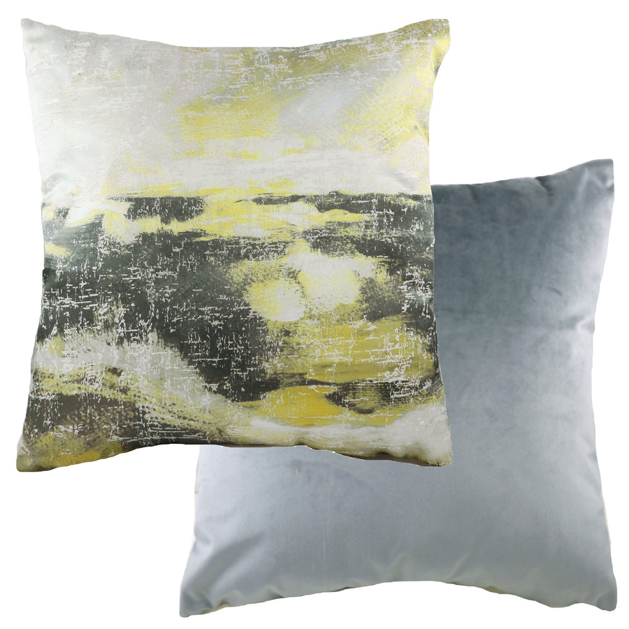 Landscape Dark Grey/Ochre Cushion