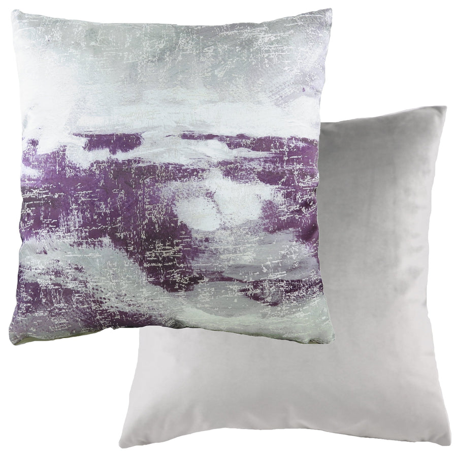 Landscape Silver/Purple Cushion