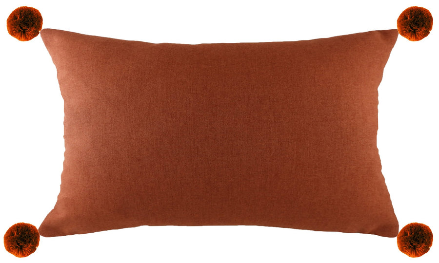 Lola Terracotta Pom Pom Cushion