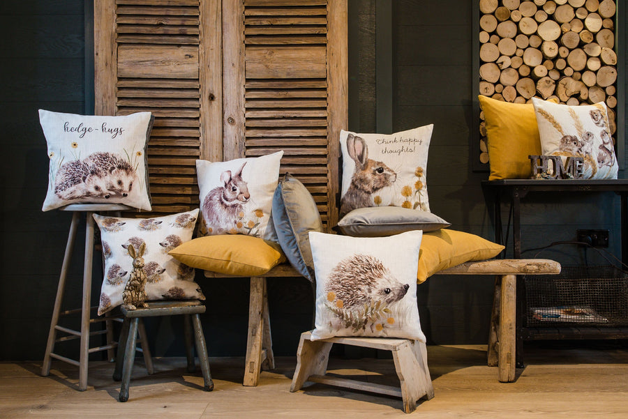 Woodland Hedgehog Repeat Cushion