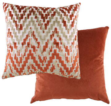 Marrakesh Chevron Terracotta Cushion