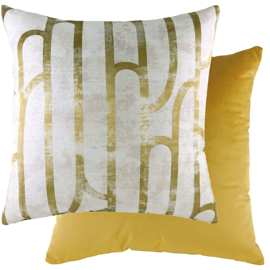 Meyer Ochre/Velvet Gold Cushion