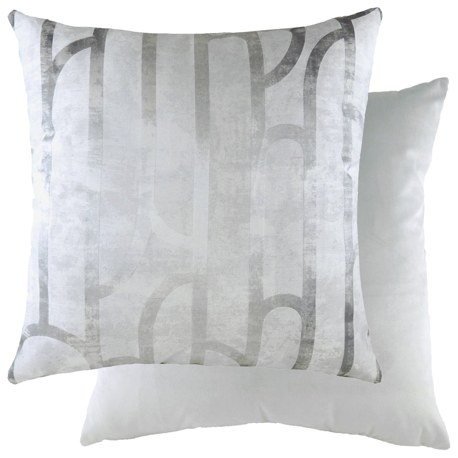 Meyer Platinum/Velvet Silver Cushion