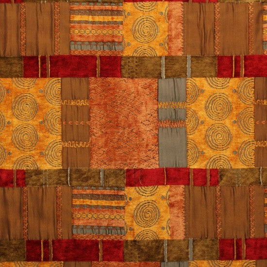 Morocco Terracotta Fabric - by the metre