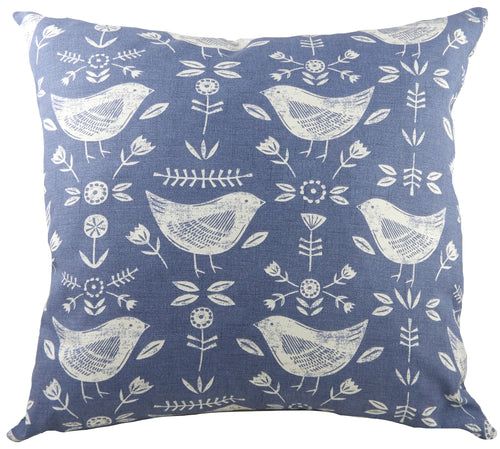 Nordic Birds Blue Cushion