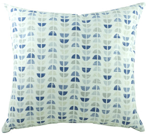 Nordic Geometric Blue Cushion