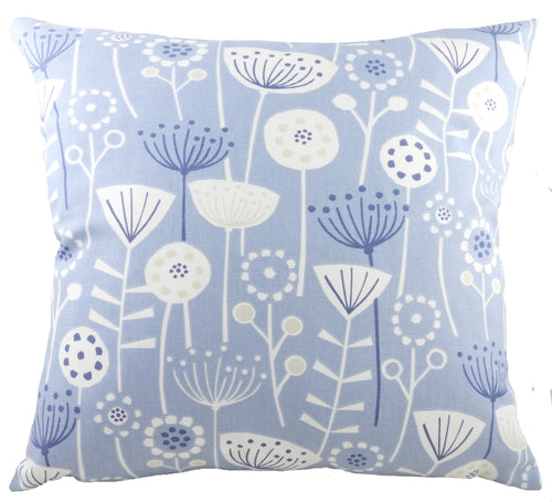 Nordic Seedheads Blue Cushion