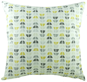 Nordic Geometric Ochre Cushion